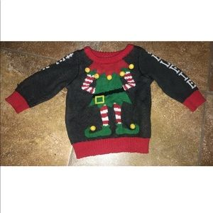 0-3 Month Unisex Baby Elfie Ugly Christmas Sweater